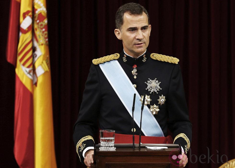 El Rey Felipe VI ofrece su primer discurso tras ser proclamado Rey de España