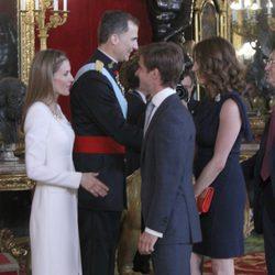 El Juli y Rosario Domecq con los Reyes Felipe y Letizia en su primera recepción como Reyes