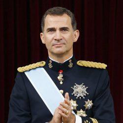 El Rey Felipe VI tras su primer discurso como Rey de España