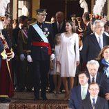 El Rey Felipe VI, la Reina Letizia y la Princesa Leonor a su salida del Congreso de los Diputados