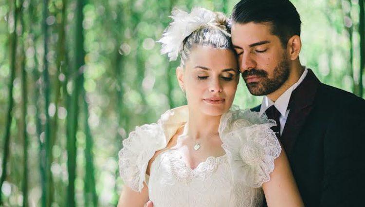María Lapiedra y Marc Amigó en su boda
