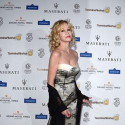 Melanie Griffith oculta por completo el tatuaje de Antonio Banderas en el Taormina Film Festival