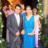 Luis Alfonso de Borbón y Margarita Vargas en la boda de Verónica Cuevas y Manuel del Pino
