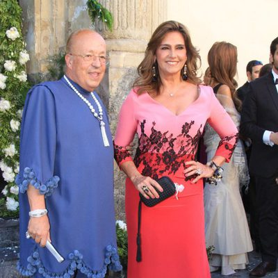 Rappel y Marina Danko en la boda de Verónica Cuevas y Manuel del Pino