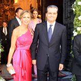 Ramón García y Patricia Cerezo en la boda de Verónica Cuevas y Manuel del Pino
