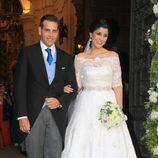 Verónica Cuevas y Manuel del Pino el día de su boda en Córdoba