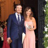 Juan Peña y Sonia González en la boda de Verónica Cuevas y Manuel del Pino