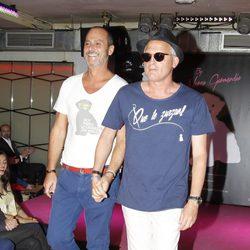 Nacho Montes y Jordi Rebellón en la presentación de la colección de moda de Nerea Garmendia