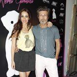 Nerea Garmendia con Jesús Olmedo en la presentación de su colección de moda