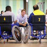 El Príncipe Harry de Inglaterra durante su visita al Hospital Sarah Kubistchek de Brasilia