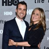 Jennifer Aniston y Justin Theroux en el estreno de 'The Leftovers'