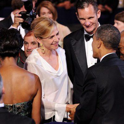 Los Duques de Palma saludan a Barack y Michelle Obama en una gala en Washington
