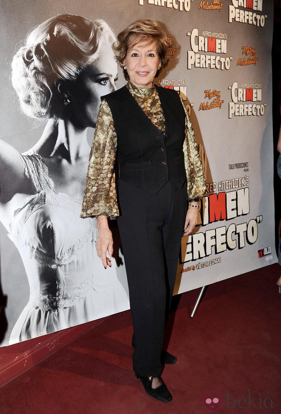 Laura Valenzuela en el estreno de 'Crimen Perfecto'