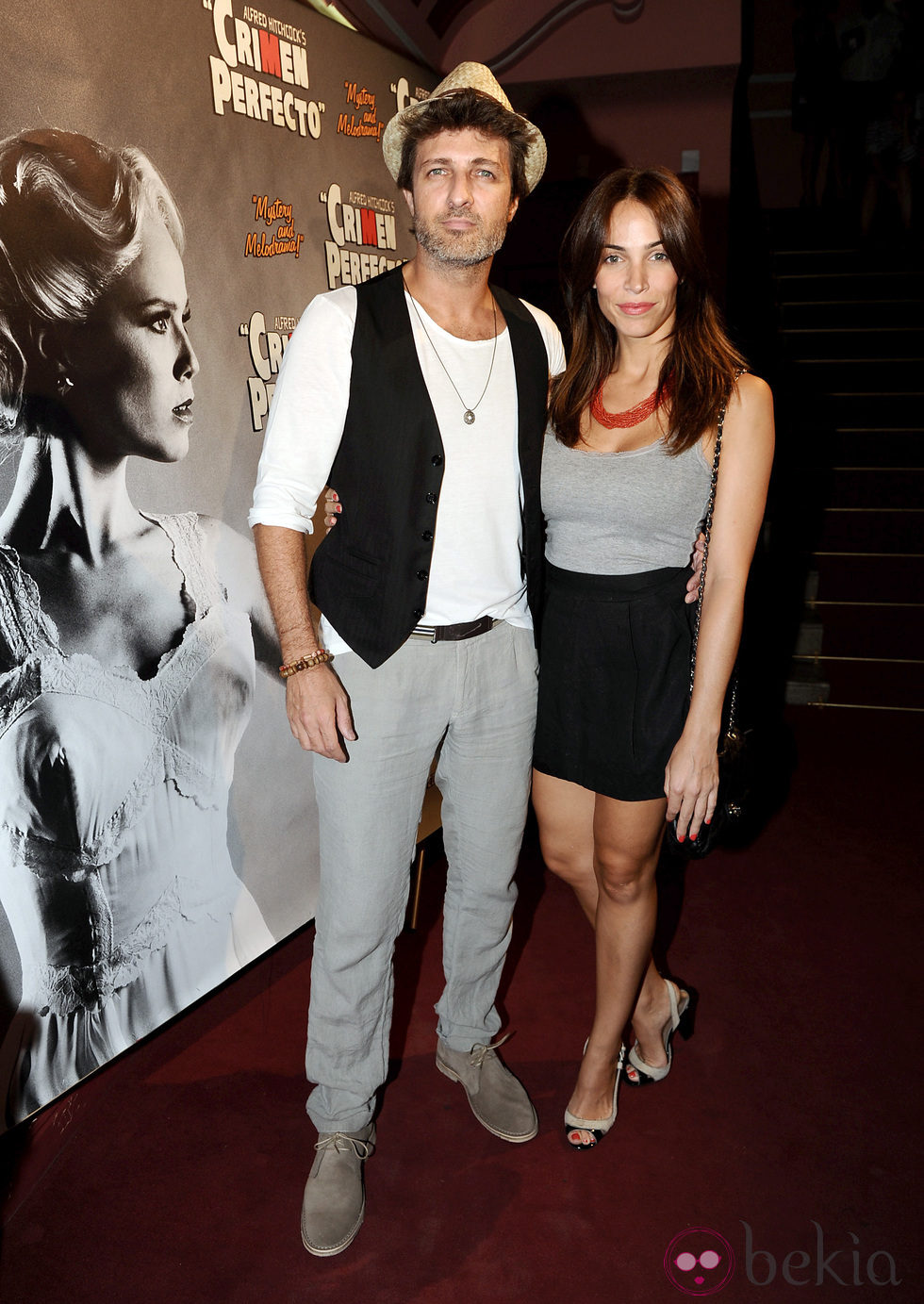 Jesús Olmedo y Nerea Garmendia en el estreno de 'Crimen Perfecto'