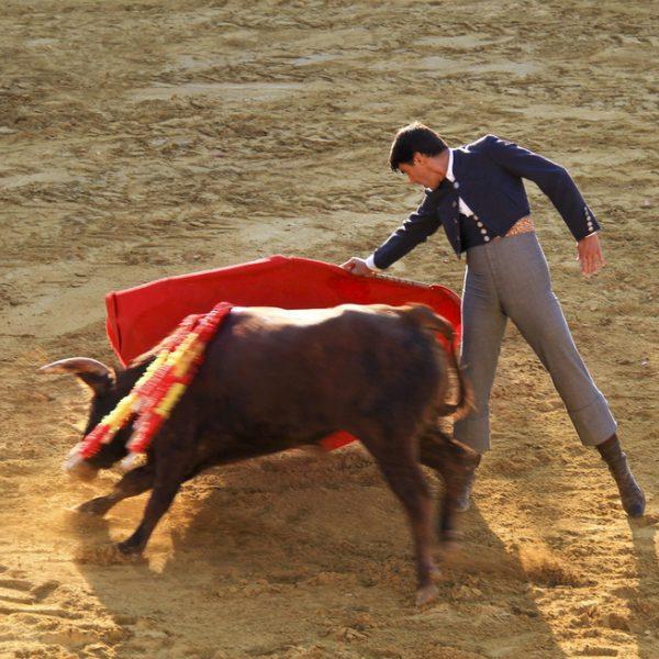 Jesulín y Victor Janeiro, mano a mano en la plaza de toros de Fuente del Maestre