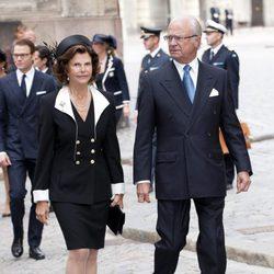 Los reyes de Suecia en la apertura del parlamento sueco