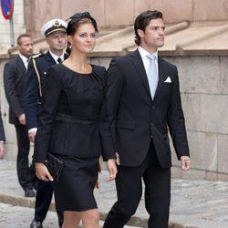 Carlos Felipe y Magdalena de Suecia en la apertura del parlamento sueco