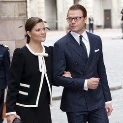 Los Príncipes Victoria y Daniel de Suecia en la apertura del parlamento sueco