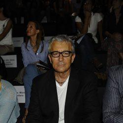Paco Valladares en el desfile de Roberto Verino en Cibeles 2011