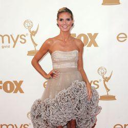 Heidi Klum en la gala de los premios Emmy 2011