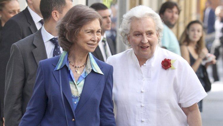 La Reina Sofía y la Infanta Pilar en el 36 cumpleaños de María Zurita