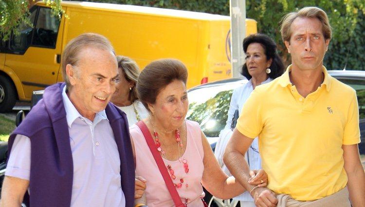 Los Duques de Soria y Alfonso Zurita en el 36 cumpleaños de María Zurita