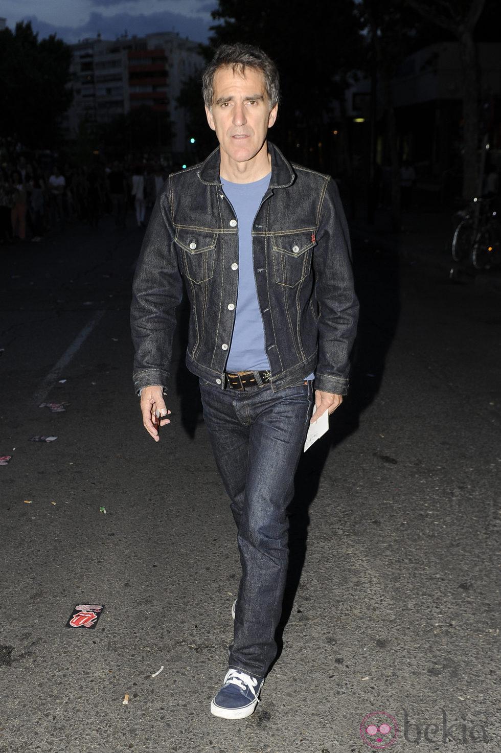 Mikel Erentxun en el concierto de los Rolling Stones en Madrid
