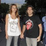Toño Sanchís y Lorena Romero en el concierto de los Rolling Stones en Madrid