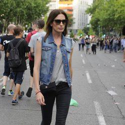 Nieves Álvarez en el concierto de los Rolling Stones en Madrid