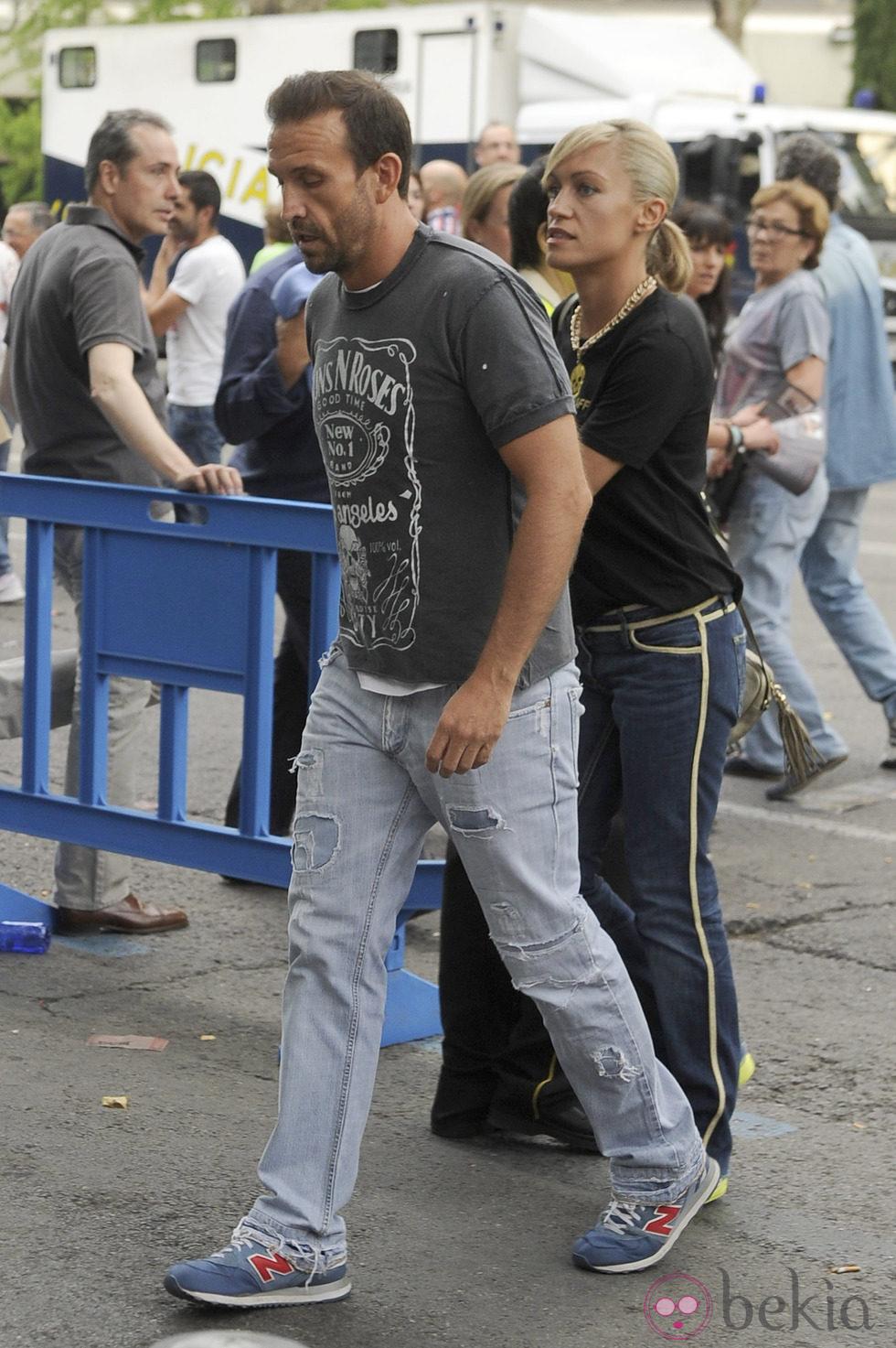 Luján Argüelles y Carlos Sánchez en el concierto de los Rolling Stones en Madrid