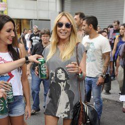Berta Collado en el concierto de los Rolling Stones en Madrid