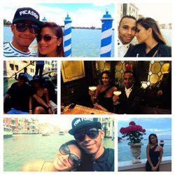 Nicole Scherzinger y Lewis Hamilton en Venecia