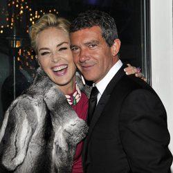 Antonio Banderas y Sharon Stone juntos en el Festival de Cannes 2014