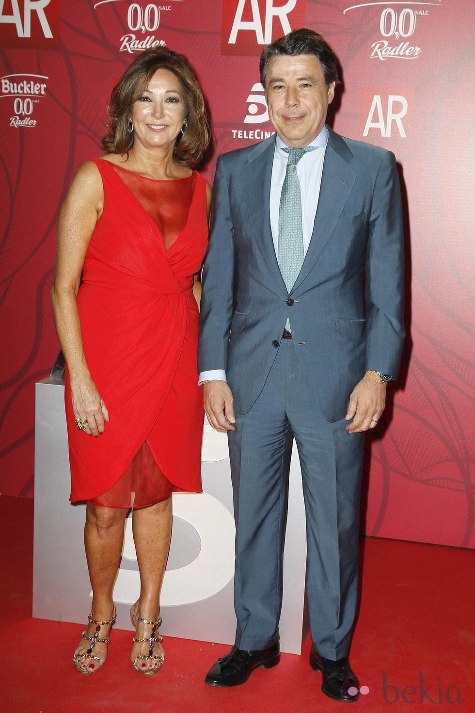Ana Rosa Quintana e Ignacio González en el décimo aniversario de 'El Programa de Ana Rosa'