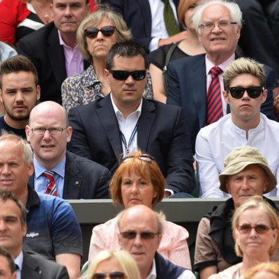 Liam Payne y Niall Horan en un partido de Rafa Nadal en Wimbledon 2014