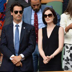 Michelle Dockery y John Dineen en un partido de Rafa Nadal en Wimbledon 2014