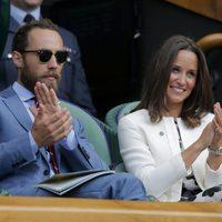 James y Pippa Middleton en un partido de Rafa Nadal en Wimbledon 2014