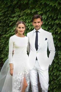 Olivia Palermo y Johannes Huebl, ambos de blanco para celebrar su boda