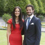 Carlos Felipe de Suecia y Sofia Hellqvist en el anuncio de su compromiso