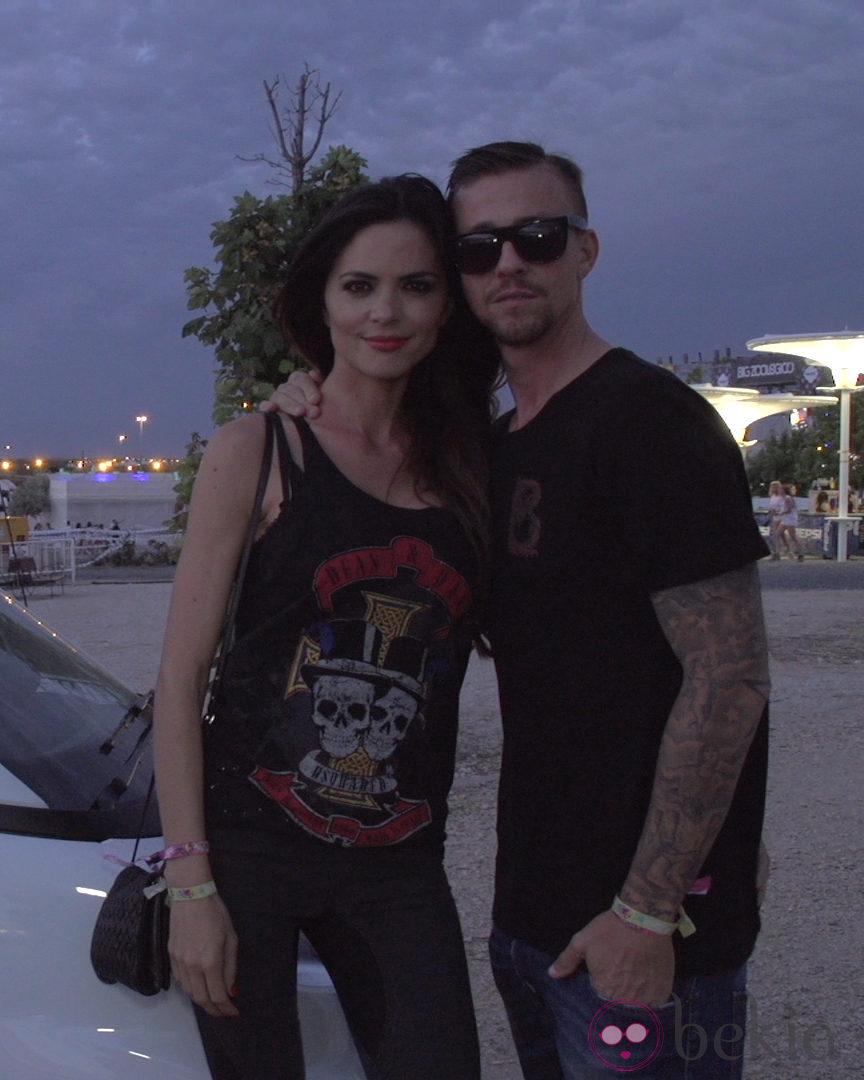 Guti y Romina Belluscio disfrutando del Festival 4every1