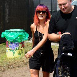 Lily Allen en el Festival de Glastonbury 2014