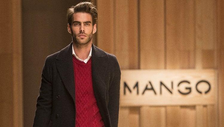Jon Kortajarena en el desfile de Mango 080 Barcelona Fashion otoño/invierno 2014