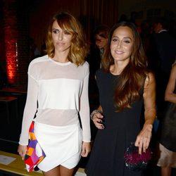 Laura Vecino y Tamara Falcó en el desfile de Mango 080 Barcelona Fashion otoño/invierno 2014