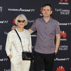 Antonia San Juan y Luis Miguel Seguí en la fiesta de una firma de smartphones