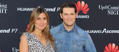 Manu Tenorio y Silvia Casas en la fiesta de una firma de smartphones