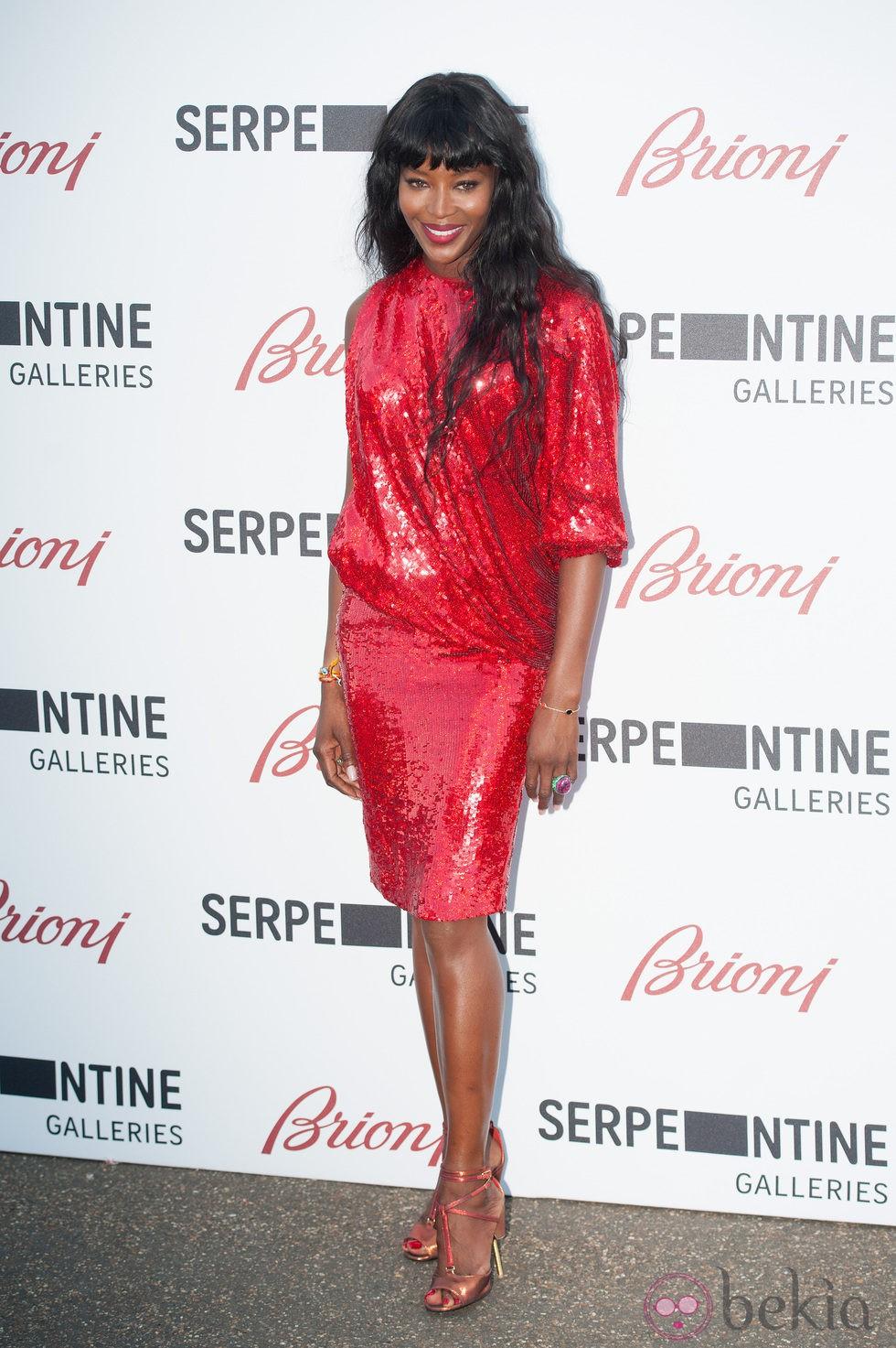 Naomi Campbell en la Serpentine Gallery Summer Party 2014