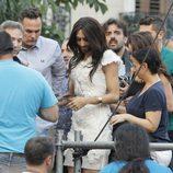 Conchita Wurst tras dar el pregón del Orgullo Gay 2014 de Madrid