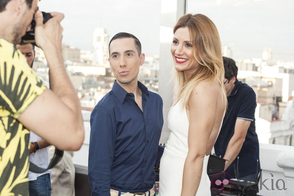 Jesús Reyes y Nagore Robles en la presentación de la primera novela de Nacho Montes
