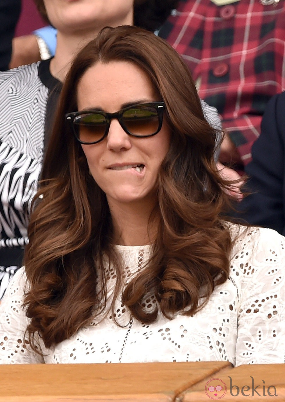 Kate Middleton se muerde el labio inferior en el partido de Andy Murray en Wimbledon 2014