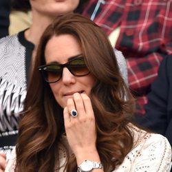 Kate Middleton se muerde las uñas de nerviosismo en el partido de Andy Murray en Wimbledon 2014